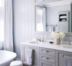 White Tongue And Groove Bathroom Furniture Shaker Mirror Decor