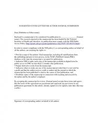 cover letter journal submission sample