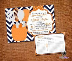 Kitchen Bridal Shower Ideas Kitchen Bridal Shower Invitation And Recipe Card By Emmyjosparties
