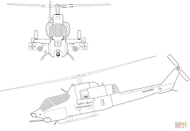ah 1w super cobra helicopter coloring page free printable