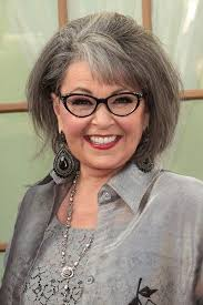 new look for roseanne barr 2015 with blonde hair rosanne barr pretty gray hair i love these vintage style glasses