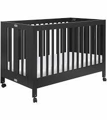 babyletto maki full size folding portable crib black