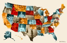 State Quarters Map by The Coolest Thing To Ever Happen In Your State Wwe