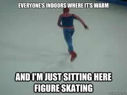 Skating Memes - figure skating spiderman memes quickmeme