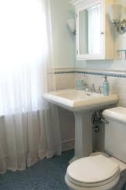 Bathroom Pedestal Sink Storage Storage Mirror Furniture Artistic Small Bathroom Pedestal
