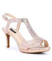 wedding shoes block heel women s bridal wedding shoes dillards