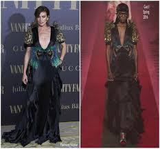 Vanity Fair Dubai Nieves Alvarez In Gucci Vanity Fair Party Fashionsizzle