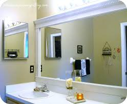 Bathroom Framed Mirror Frame Mirror Molding Bathroom Framed With Crown Appealing Exciting