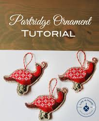 partridge ornament tutorial with free pattern