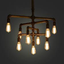 Hanging Chandelier Light Fixture Retro American Industrial Pipe Pendant Chandelier Lights