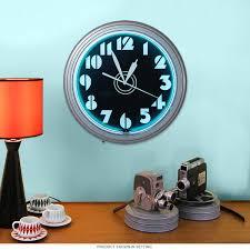 Art Wall Clock by Art Deco Stencil Numbers Neon Wall Clock Vintage Garage Clocks