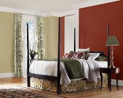 Bedroom With Red Accent Wall - gray living room accent colors 6 image