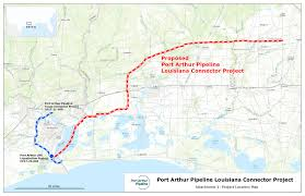 Map Of Parishes In Louisiana by Port Arthur Pipeline Louisiana Connector Sempra Lng