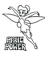 pixie power tinkerbell coloring netart