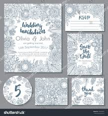 vector wedding collection templates invitation thank stock vector