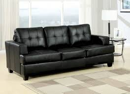 Acme Living Room Furniture by Diamond Bonded Leather Sofa Sleeper In Black 15061