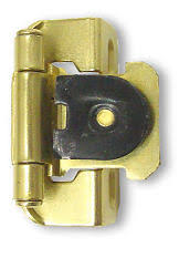 3 8 overlay partial wrap cabinet hinges single 3 8 overlay single demountable hinge brass plated semi