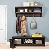 amazon com entryway wall mount coat rack w shoe storage bench in