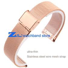 rose gold stainless steel bracelet images Rose gold stainless steel watchband ultra thin mesh strap width jpg