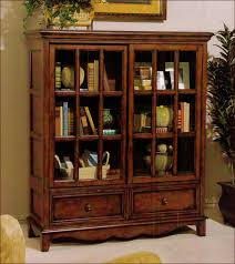 Bookcases With Glass Bookshelf Extraordinary Low Bookcase With Doors Enchanting Low