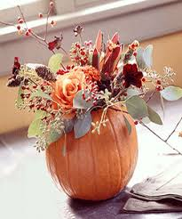 Table Decorations Centerpieces by Pumpkin Flower Centerpieces Fall Table Decorations Pumpkin