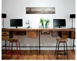 Standing Desk With Drawers by Reclaimed Wood Desk Etsy