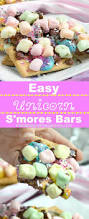 easy unicorn s u0027mores bars meatloaf and melodrama