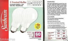 2 60 watt bulbs rough service medium e26 base 60w work light bulb