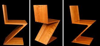 chaise zig zag chaise zig zag par gerrit rieveld nouveau géométrique