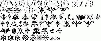 itc bodoni ornaments pi premium font buy and