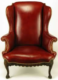 Leather Tufted Chair Rich Camel Leather Tufted Wing Chair At 1stdibs