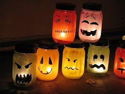 diy tutorial diy fall decor diy halloween painted jar luminaries