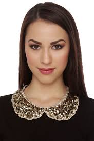 collar necklace images Gold sequin necklace collar necklace bib necklace 21 00 JPG