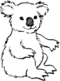 koala outline az coloring pages with koala coloring pages