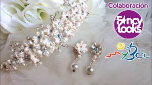 a illos de boda diadema y pendientes de boda diy con porcelana fría paso a paso