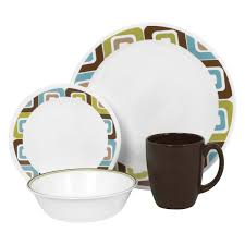 corelle livingware 16 dinnerware set squared