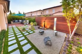 Modern Rock Garden California Zen Rock Garden With Ipe Wood Water Feature Hgtv