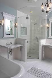 beveled mirror bathroom bathroom traditional with subway tiles