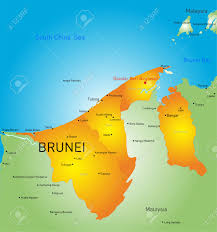brunei map in world vector color map of brunei country royalty free cliparts vectors