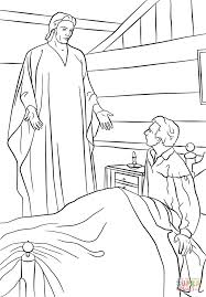 moroni appears to joseph smith in his room coloring page free