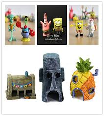 kid gift fish tank aquarium decoration landscaping spongebob