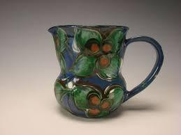 antique art nouveau hak kahler danish pottery mug pitcher jug fine