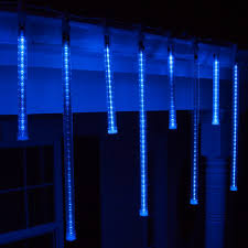 accessories led holiday lights blue and white outside christmas