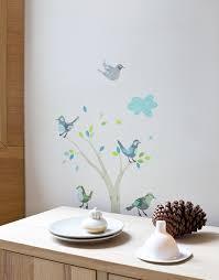 stickers chambre d enfant sticker chambre garçon les oiseaux verts abigail brown