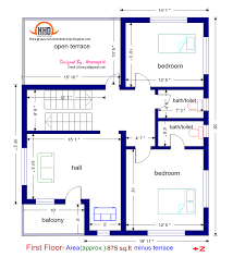 Bedroom House Plans Sq Ft Style 2017 800 Feet 2 Bhk Plan Duble House Plans 800sqf