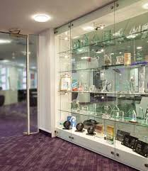 glass cabinet display walls shopkit uk