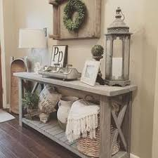 Entryway Accent Table Modified Whites Rustic X Console Table And Used Minwax