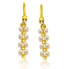 danglers earings buy surat diamond pearl glowing gorgeous danglers earrings se7
