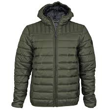 mens threadbare hooded padded quilted lined puffa jacket winter