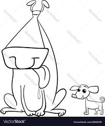 big and small dogs coloring page royalty free vector image